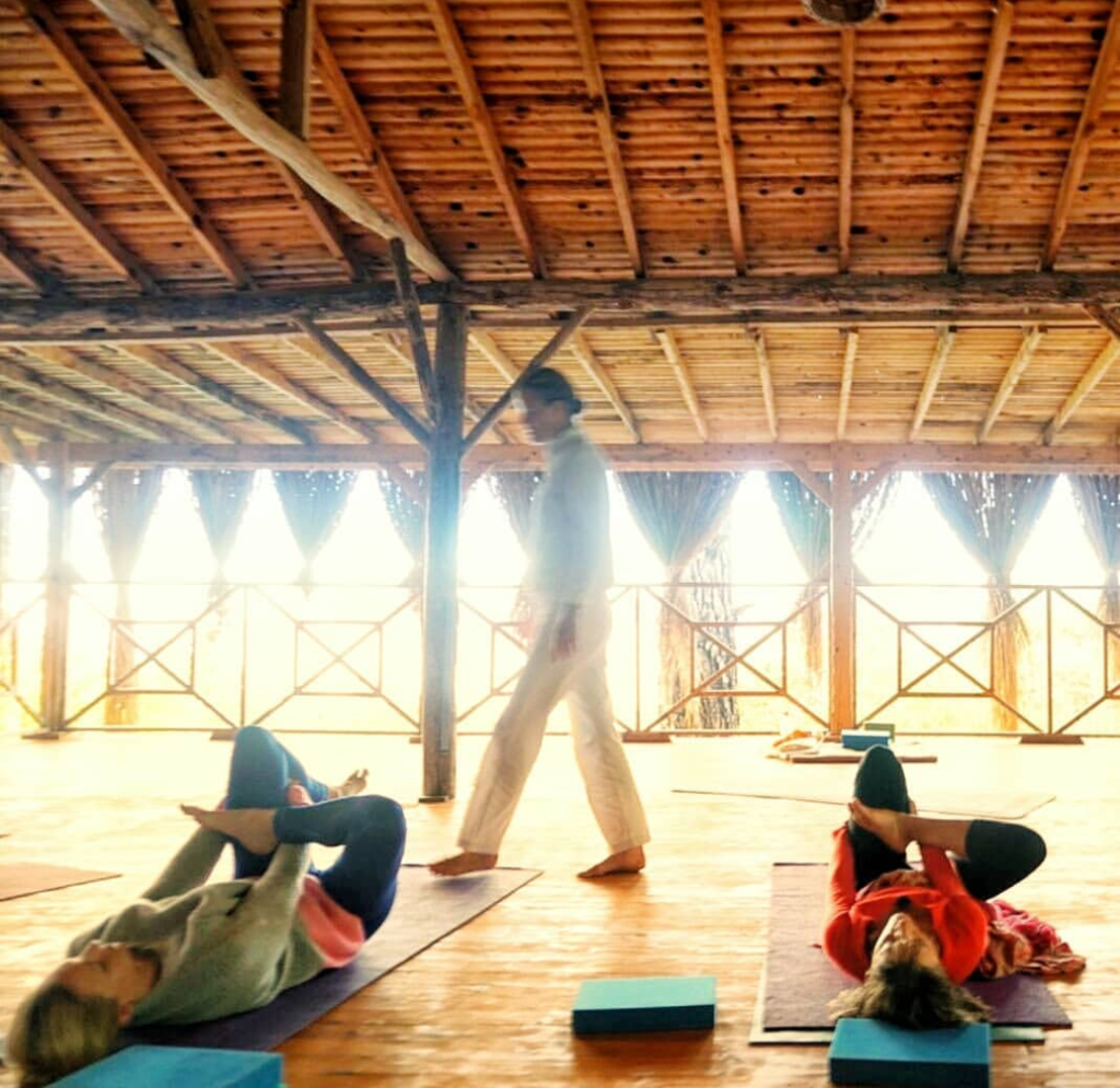 Yoga hall at Yuva